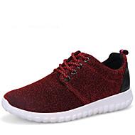 Dame-Kustomiserte materialer-Flat hæl-Lette såler-Flate sko-Friluft Fritid Sport-Grå Rød Lyseblå