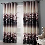 Deux Panneaux Le traitement de fenêtre Rustique Chambre à coucher Polyester Matériel Rideaux occultants rideaux Décoration d'intérieurFor