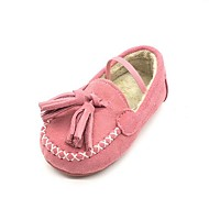 Girl's Loafers & Slip-Ons Comfort Fur Casual Pink Camel
