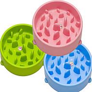 Katze Hund Futter-Vorrichtungen Haustiere Schüsseln & Füttern Wasserdicht Tragbar Doppel-seitig grün blau rosa Kunststoff