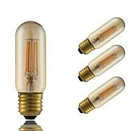 4W E26/E27 Izzószálas LED lámpák T 4 COB 350 lm Borostyánsárga Állítható Dekoratív AC 220-240 V 4 db.