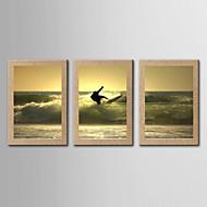 Inpresione Giclee Famoso Paisaje Realismo,Tres Paneles Vertical Panorámica lámina Decoración de pared For Decoración hogareña