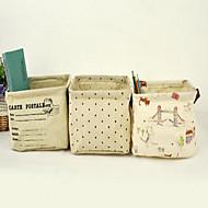 Caixas de Armazenamento Sacos de Armazenamento Cestos de Armazenamento Organizadores de Bijuteria Têxtil comCaracterística é Aberto , Para
