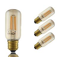 4W E26/E27 LED-hehkulamput T 4 COB 350 lm Amber Himmennettävä Koristeltu AC 220-240 V 4 kpl