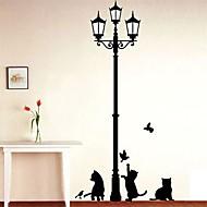 Zvířata Módní Volný čas Samolepky na zeď Samolepky na stěnu Ozdobné samolepky na zeď,Vinyl Materiál Home dekorace Lepicí obraz na stěnu