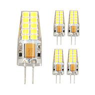 5pcs g4 20LED smd2835 ac / dc12v 7W 1000lm warmweiß / weiß hochwertige Doppelstift wasserdichte Lampe