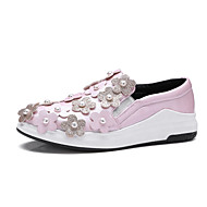 Women's Flats Spring Summer Fall Winter Other PU Outdoor Athletic Casual Flat Heel Flower Black Pink