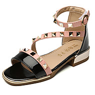 Sandals Spring Summer Fall Gladiator Flower Girl Shoes Leather Outdoor Athletic Casual Low Heel Black Gray Walking