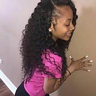 jedwabna baza pełna koronkowa peruka głęboka fala peruka Brazylijski dziewiczy ludzki włos na African American kobiet