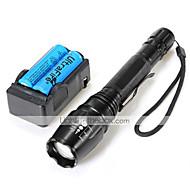 U'King LED zseblámpák Elemlámpa készlet LED 2000 Lumen 5 Mód Cree XM-L T6 18650 Állítható fókusz Kempingezés/Túrázás/Barlangászat