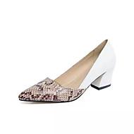 Ženske Cipele na petu Udobne cipele PU Proljeće Ljeto Kauzalni Udobne cipele Niska potpetica Obala Crn Do 2.5 cm