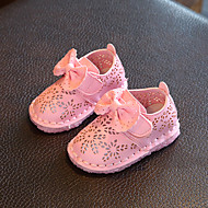 Vauvat Tasapohjakengät Comfort Kengät kukkaistytölle Tekonahka Kevät Syksy Kausaliteetti Kävely Tarranauhalla Matala korkoValkoinen