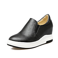 Sneakers Spring Summer Fall Winter Comfort Light Soles PU Outdoor Casual Work & Safety Flat Heel Black White Gold
