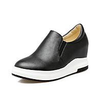 Sneakers-PU-Lysende såler KomfortSort Hvid Guld-Udendørs Fritid Work & Safety-Flad hæl