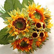 6 Κλαδί Μετάξι Ηλιοτρόπια Λουλούδι για Τραπέζι Ψεύτικα λουλούδια 27