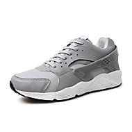 Herren-Sneaker-Outddor Lässig Sportlich-Mikrofaser-Flacher Absatz-Komfort-Schwarz Grau Schwarz/weiss