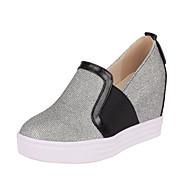 Sneakers-PUDamer-Guld Sort Sølv-Kontor Formelt Fritid-Flad hæl