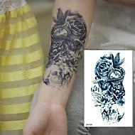 1 Tatuajes Adhesivos Series de Flor Waterproof 3D flash de tatuaje Los tatuajes temporales