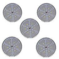 50W E27 LED-drivhuslamper 120 SMD 5730 4000-5000 lm Varm hvit Rød Blå UV V 5 stk.