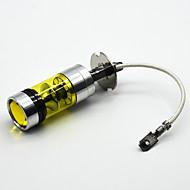 Nova LED žarulja za maglu 4300k H3 vodio svjetlo za maglu 100W super svijetle lakoća žute boje
