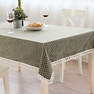 Carré Avec motifs Toile Nappes de table , Mélange Lin/Coton Matériel Tableau Dceoration 1/set