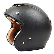 Reus ZS-381c motocykl poloviny helma retro harley helma imitace kůže vzorek materiálu ABS