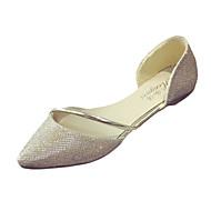 Γυναικεία παπούτσια-Χωρίς Τακούνι-Ύπαιθρος-Επίπεδο Τακούνι-Ανατομικό-PU-Ασημί Χρυσό