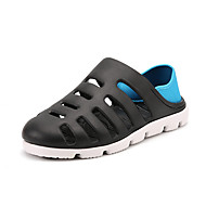 メンズ-アウトドア オフィス カジュアル-ラバー-フラットヒール-穴の靴-サンダル-
