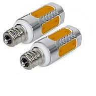 3W E12 נורות תירס לד 5 COB 300 lm לבן חם לבן קר V שני חלקים