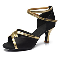 Chaussures de dansePersonnalisables-Talon Cubain-Similicuir Tissu-Latines