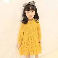 Mädchen Kleid Sport einfarbig Baumwolle Frühling Herbst Lange Ärmel