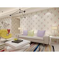 Floral Árvores/Folhas Papel de Parede Para Casa Regional Revestimento de paredes , Vinil Material adesivo necessário papel de parede ,