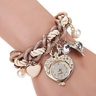 Women's Kids' Fashion Watch Wrist watch Bracelet Watch Quartz Imitation Diamond Rhinestone Alloy BandVintage Heart shape Bohemian Charm