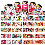 1pcs 12 design Стикер искусства ногтя Вода Передача Переводные картинки макияж Косметические Ногтевой дизайн
