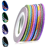 1set 12rolls Nagelkunst sticker Folie Strippen Tape make-up Cosmetische Nagelkunst ontwerp