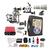 Complete Tattoo K304 2 Machines With Mini Power Supply  liner & shader