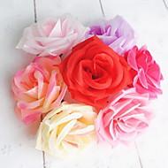 1 ענף סיב ורדים פרחים לשולחן פרחים מלאכותיים