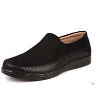 Men's Loafers & Slip-Ons Spring Other Fabric Casual Flat Heel Black Brown