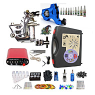 Complete Tattoo Duron II 2 Machines With Mini Power Supply  Liner & Shader Inks