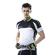 Mysenlan Jerseu Cycling Pentru bărbați Mânecă scurtă Bicicletă Jerseu Respirabil Poliester Modă Vara Negru/Alb Albastru/Alb
