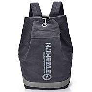 ユニセックス バックパック キャンバス オールシーズン スポーツ カジュアル ショッピング アウトドア プロユース バケツ型バッグ なすかん ブラック グレー 地球イエロー