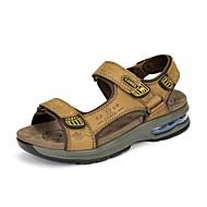 Bărbați Sandale Vară Confortabili Piele Outdoor Casual Toc Plat Papuci de Apă
