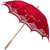 Red/Black Elegant Lace Embroidered Wedding Bridal Umbrella Parasol  Romantic Wedding Umbrella Lady Costume Accessory Bridal Party Decoration