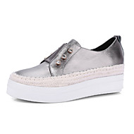 Sneakers Spring Summer Fall Winter Other Mary Jane Cowhide Outdoor Dress Casual Flat Heel Rhinestone Blue Gray