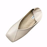 Γυναικεία παπούτσια-Χωρίς Τακούνι-Ύπαιθρος-Επίπεδο Τακούνι-Ανατομικό-PU-Μαύρο Μπεζ Μπορντώ