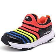 Boy's Sneakers Spring Summer Fall Winter Comfort Light Soles Microfibre Outdoor Athletic Casual Flat Heel Gore Split JointPurple