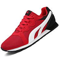 Sneakers-Tyl-Komfort Lysende sålerSort Rød Mørkeblå-Udendørs Sport-Flad hæl