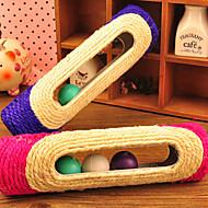 猫用おもちゃ 犬用おもちゃ ペット用おもちゃ ティーザー 耐用的 シザル麻 パープル