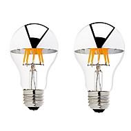 6W B22 E26/E27 LED Glühlampen G60 6 COB 600 lm Warmes Weiß Dimmbar AC 220-240 AC 110-130 V 2 Stück