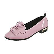 Γυναικεία παπούτσια-Χωρίς Τακούνι-Ύπαιθρος-Επίπεδο Τακούνι-Ανατομικό-PU-Μαύρο Ροζ Σαμπανιζέ
